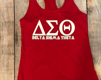 6a8be68c Delta Sigma Theta Sorority Personalized Tank