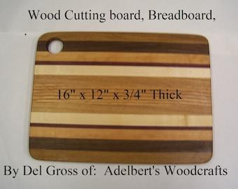 Mixed Hard Wood Cutting board Breadboard Serving Board With