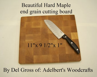 Beautiful Solid Hard Maple End Grain Cutting Board. Shipped by priority mail 2 to 3 days delivery.