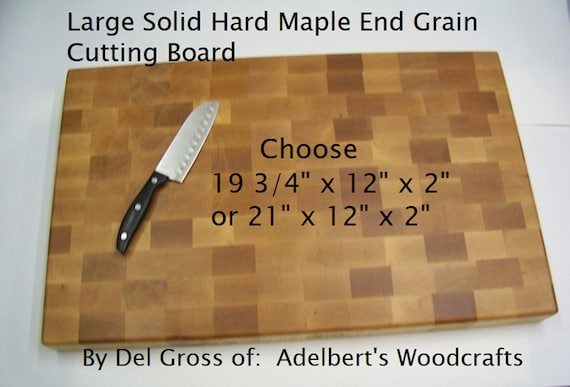Large Solid Hard Maple End Grain Cutting Board, Butcher Block, Restaurant, Hand Made USA.