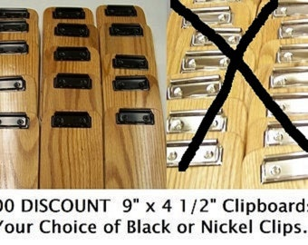 """100 Handmade Clipboards Made of Oak hardwood. Check Presenter Clipboards are Approximately 4 1/2"""" x 9'' Small wooden clipboards 7.79 ea."""