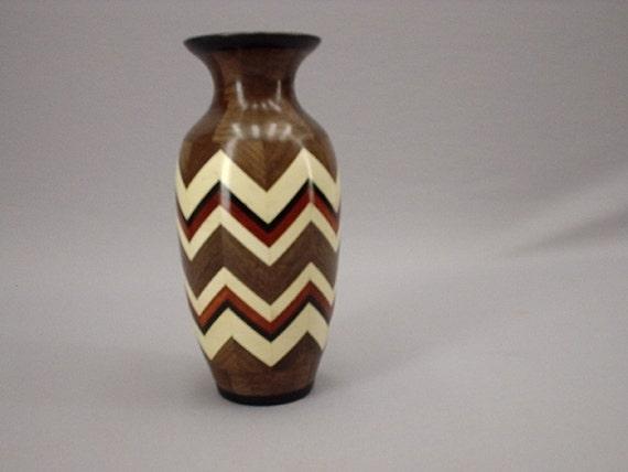 Segmented zig zag vase By Del Gross of:  Adelbert's Woodcrafts