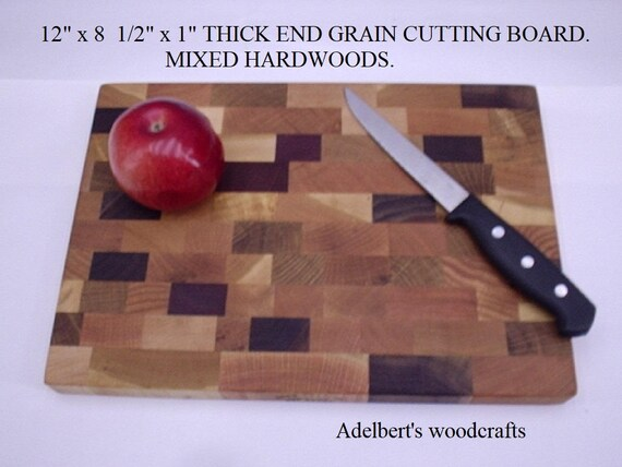 "12"" x 8.5"" x 1 "" wood cutting board  Made in America."
