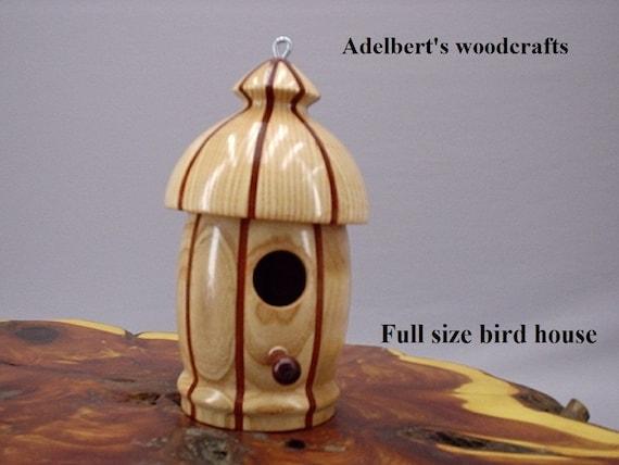 Round Bird House Lathe Turned Full Size