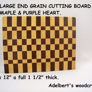 Shipped by priority mail 2 to 3 days delivery. Large end grain butcher block 16  by  12  by 1.5 thick
