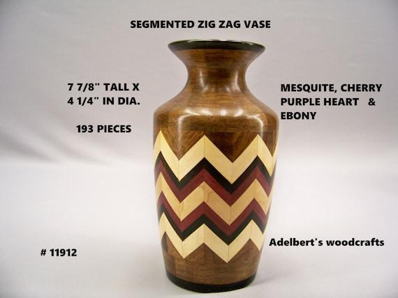 Segmented zig zag vase