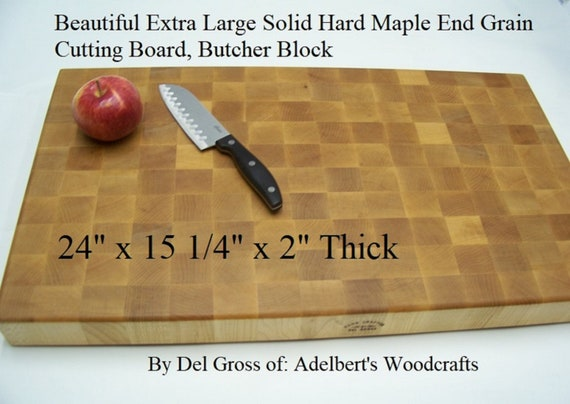 Beautiful Extra Large Solid Hard Maple End Grain Cutting Board, Butcher Block, Chopping Block, Restaurant, Hand Made USA.