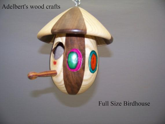 Designer Birdhouses Round Lathe Turned Bird House