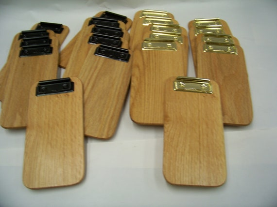 12 to 50 Wood Check Presenters, Check Holders, Clipboards, Memo Clipboard, Restaurants. 4 x 8  Oak. Only 7.47 ea. When You Buy Box OF 50 USA
