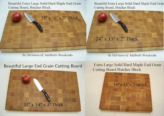 """Extra Large Hard Maple End Grain Cutting Board-Butcher Block, Check my low price. Your Choice of 3 Sizes 2"""" Thick For Sale USA."""