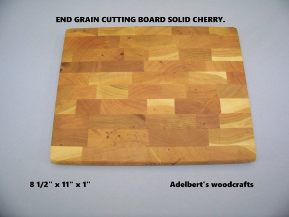 End Grain Cherry Cutting Boards For Sale. Rustic Cherry Great Gift. USA.