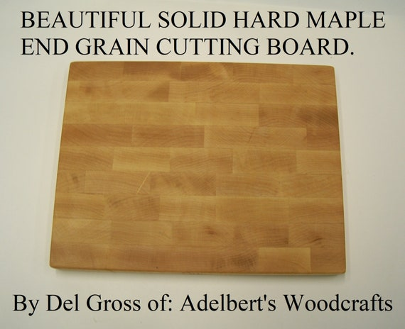 """Solid Hard Rock Maple End Grain Cutting Board 12"""" x 9"""" x 1"""" Thick Pattern."""