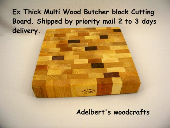 Thick Butcher block Cutting Board+ Free 2 oz BottLe of Conditioner. Shipped priority mail 2 to 3 days delivery.
