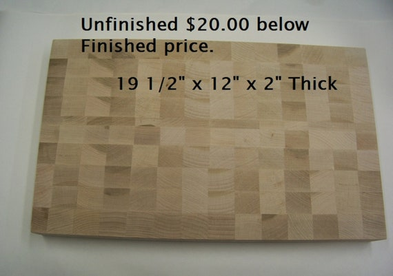 """Low Price Extra Large Unfinished Hard Maple End Grain Cutting Board-Butcher Block, Your Choice of 2 Sizes 2"""" Thick For Sale."""