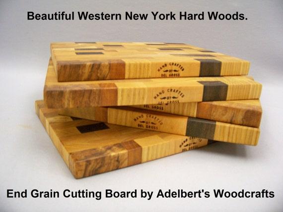 End Grain Cutting Board. Western New York Hardwoods.