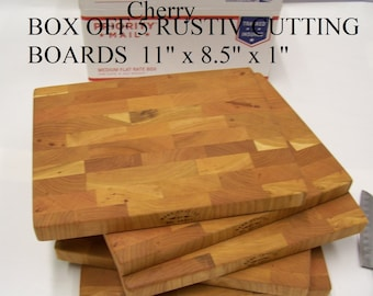 5 Rustic Cherry End Grain Cutting Boards For Sale. Kiln dried lumber .Shipped by priority mail 2 to 3 days.