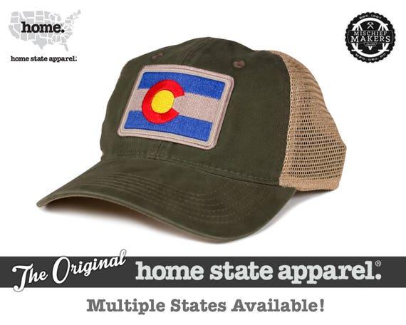 Home State Apparel Hat  State Flag Snapback Hat Olive Khaki  4e503e1f5da
