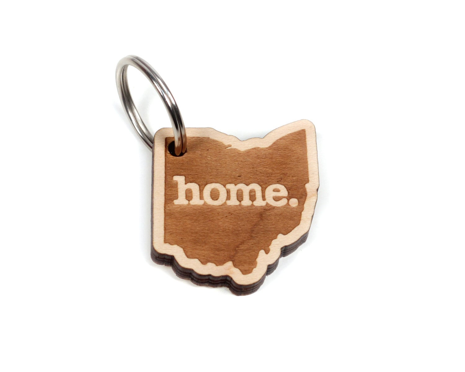 Ohio Key Charm By Home State Apparel Laser Engraved Wood
