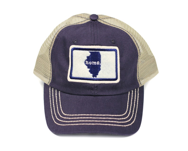 d77574892fddc All 50 States Available  Home State Apparel Trucker Cap Navy