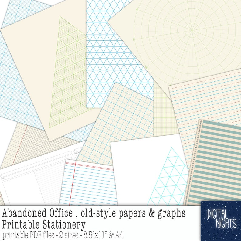 Abandoned Office - Old Style School and Office Paper Stationery - A4 and  8 5x11