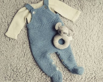 2ded2cac805 LEO cotton merino Knit Baby pants - handmade onesies - baby pants - newborn  outfit - baby overalls - baby knitted pants - handmad pants
