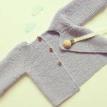 cozy Knit baby cardigan - merino knit baby cardigan - handknit sweater - handmade newborn - knit baby jacket - newborn knit