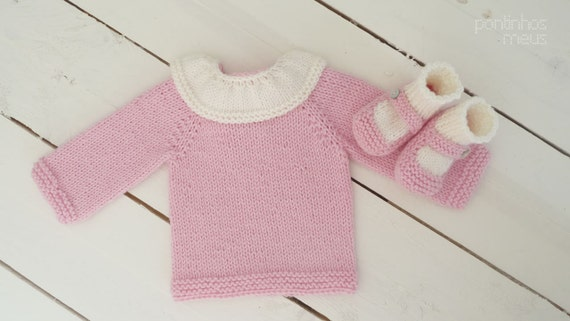 Stricken Baby Kragen Pullover gestrickte Baby Pullover | Etsy