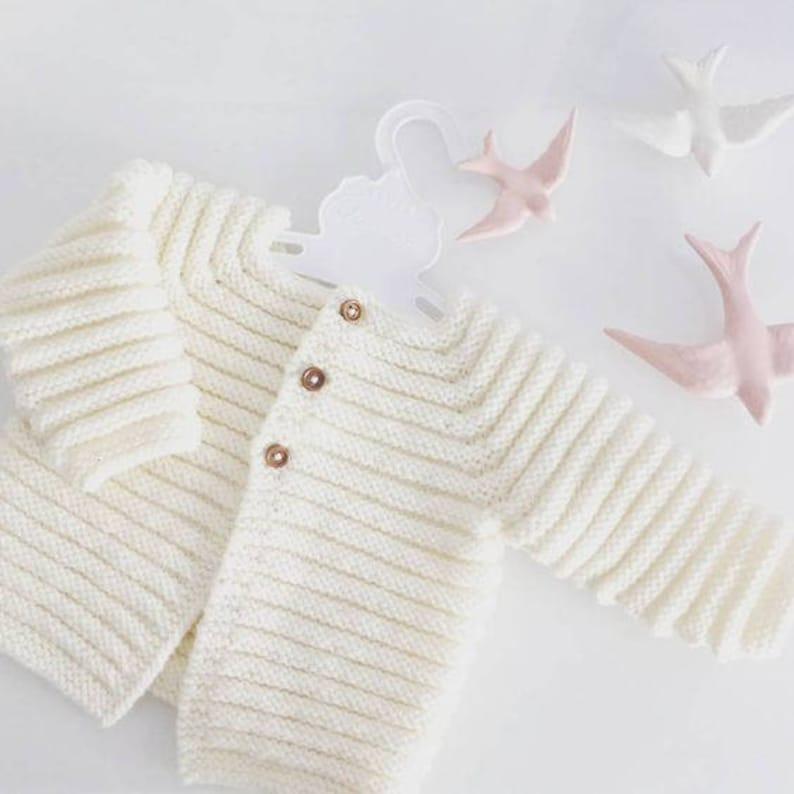 8eee9b114 Chaqueta de bebé punto de cardigan merino baby knit cardigan