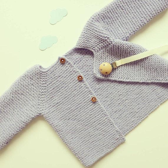 gemütlich stricken Baby Strickjacke Merino stricken Baby | Etsy
