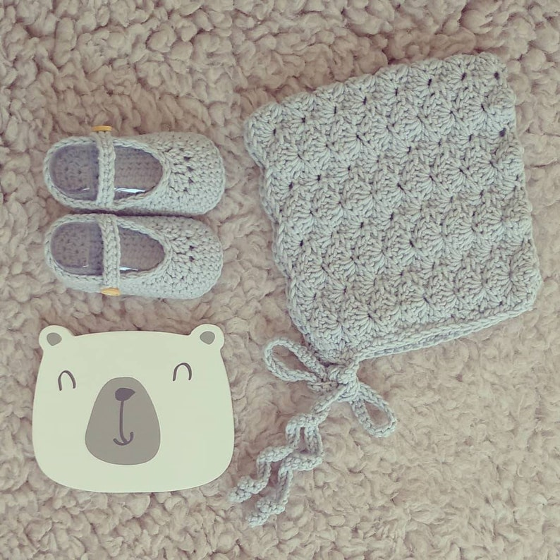 handmade set baby set pixie bonnet and booties newborn knits merino crochet baby bonnet handknit hat wool baby booties
