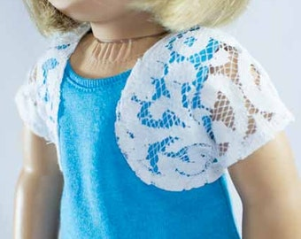 SHRUG JACKET Cardigan in White LACE for American Girl or 18 inch doll