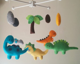 "Baby crib mobile, Dinosaur mobile, boy mobile, nursery mobile ""Dino Lands"""
