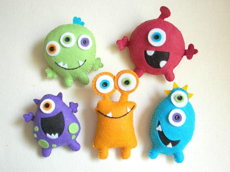 """Plush toys, Felt toys, Monster - """"Monster Friends"""""""