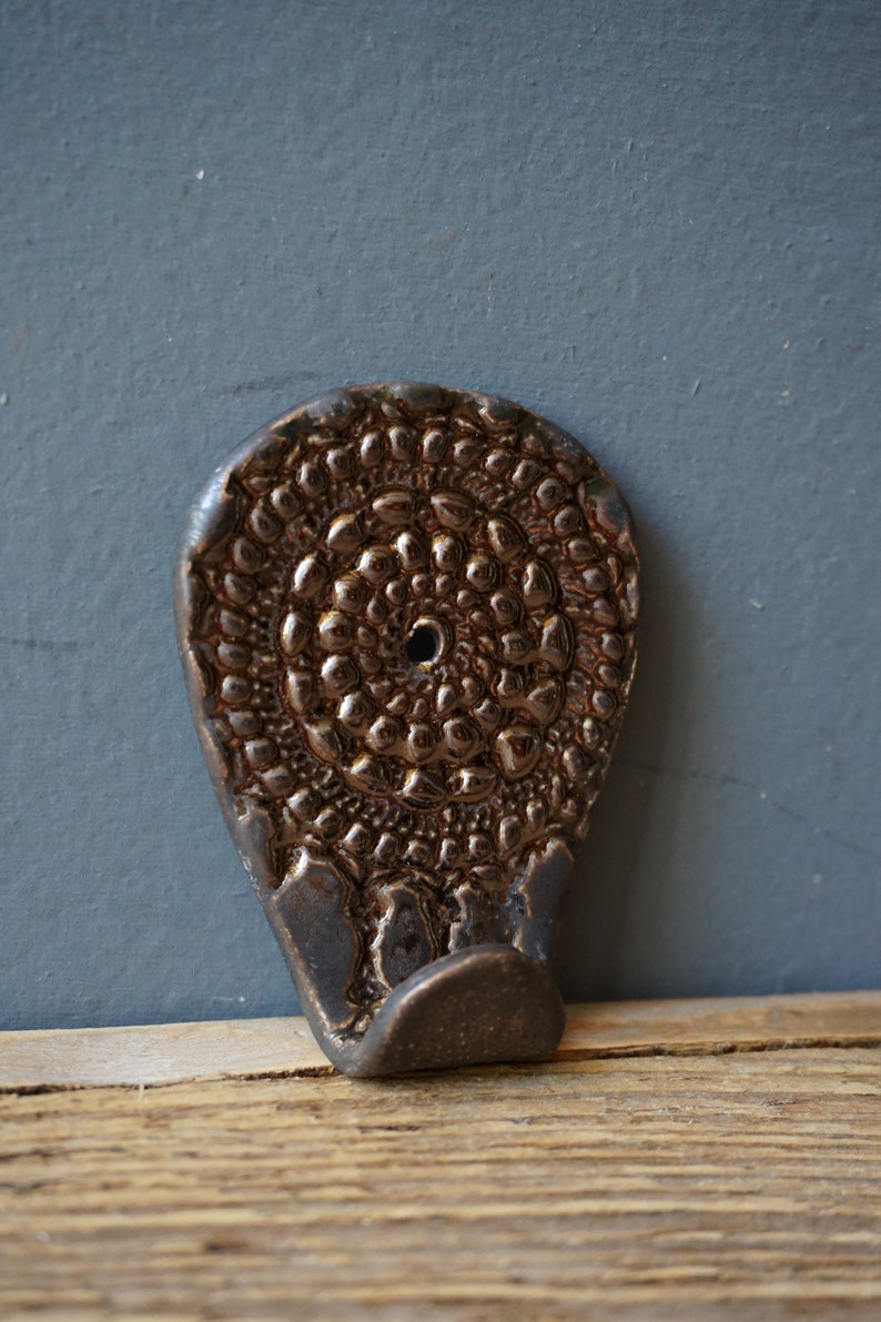 Ceramic Towel Hook  Lace print Hook  Handmade Kitchen HOOK  Wall hanger  Towel Hook  Small Rack