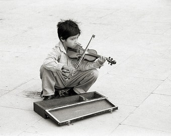 Boy playing violin | Etsy