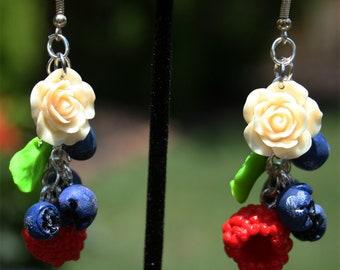 Berries. Unique Earrings Handmade of Polymer Clay