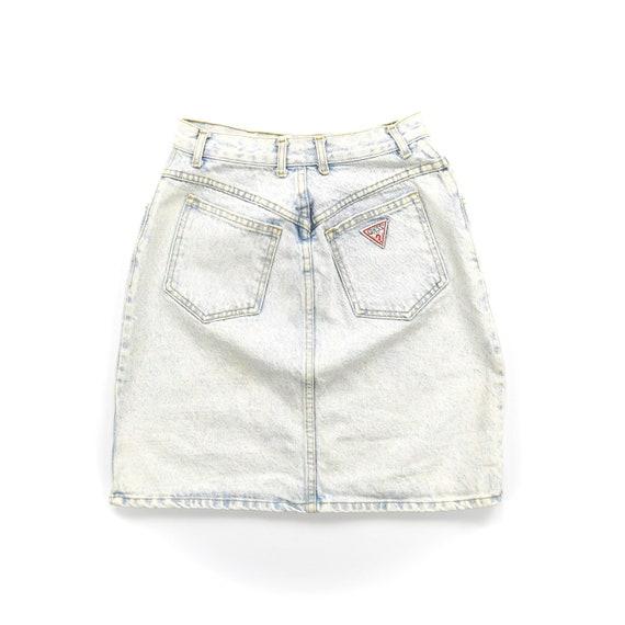 """Vintage 25"""" Acid Wash Denim Guess Skirt"""