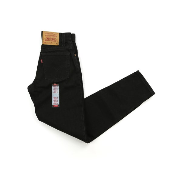 Deadstock Levis 90's Black High Waisted Jeans wais