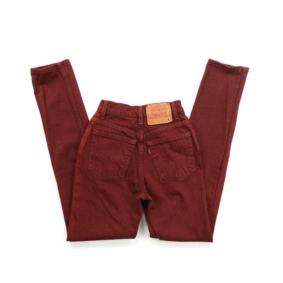 Vintage 512 Maroon High Waisted Levis Jeans // Siz