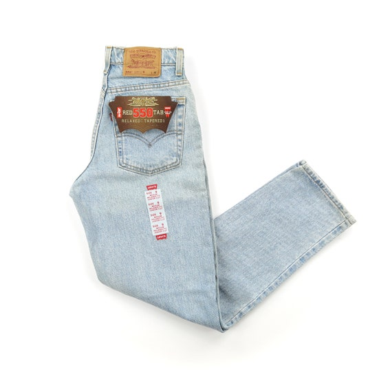 Deadstock Levi's 550 Light Wash High Waisted Jeans