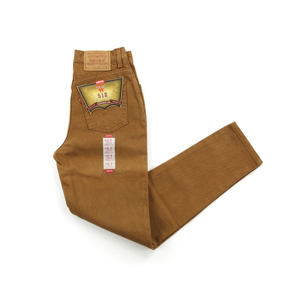 Deadstock Levis 512 90's Bronze Brown High Waisted