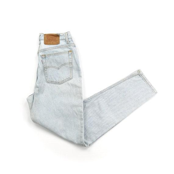Vintage Levis 512 Light Wash High Waisted Jeans //