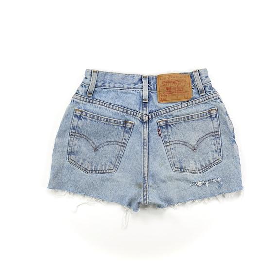 Vintage Levis 512 Light Wash High Waisted Shorts /