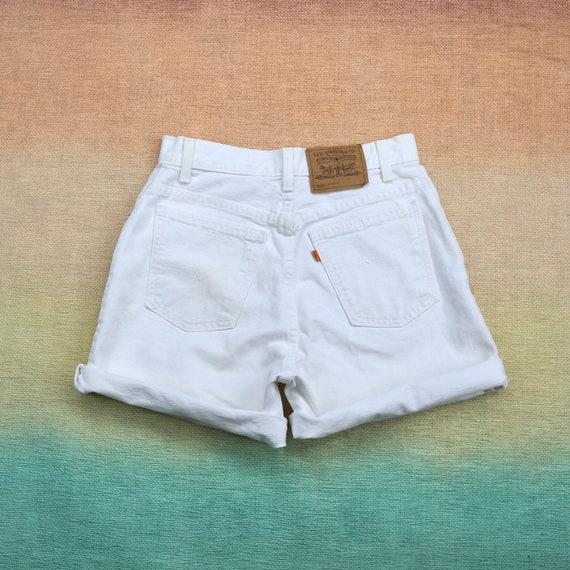 Vintage 951 Levis White High Waisted Shorts/Capris