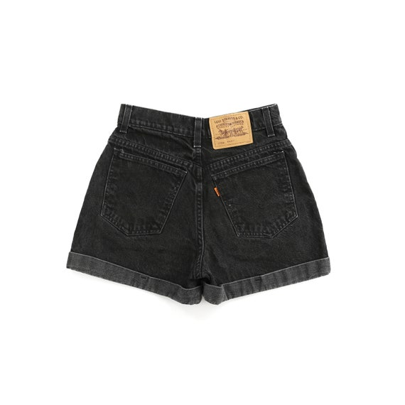 Vintage Levis 90's 954 Black High Waisted Shorts W