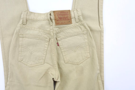 Vintage Levis 512's 90's Tan High Waisted Jeans W… - image 4