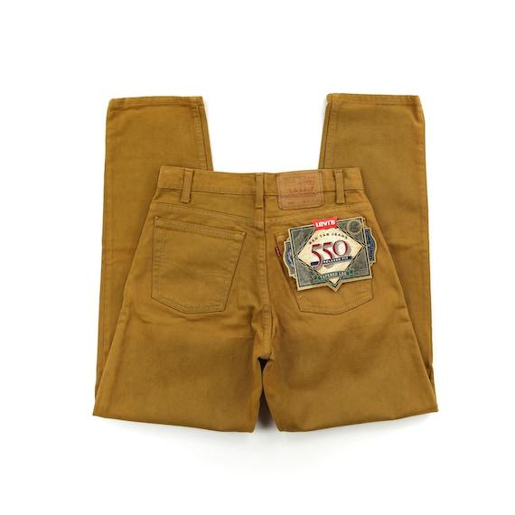 Deadstock Levis 550 Bronze High Waisted Jeans Wais