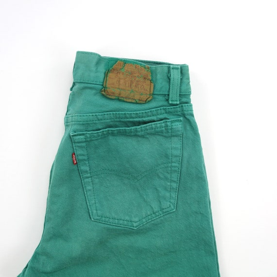 Vintage Levis 701 Mint Green Button Fly Jeans // … - image 4