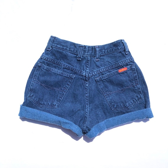 navy blue high waisted shorts