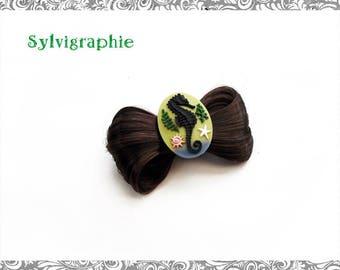 Kawaii Brown synthetic hair clip